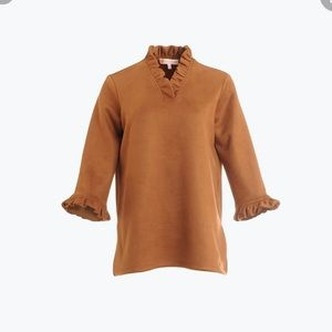 NWT Jude Connally Faux Suede Cora Top/tunic Brown